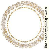Vintage gold circular leaf border or frame