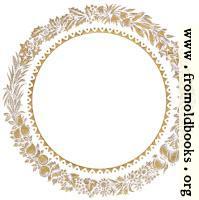 Vintage gold circular leaf border or frame