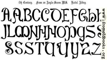 4.—9th Century. From an Anglo-Saxon MS.  Battel Abbey.