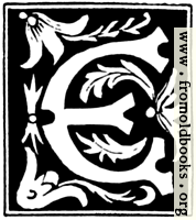 """Decorative initial letter """"E"""" from 16th Century"""