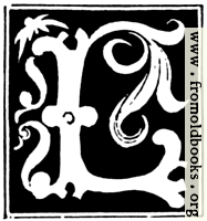 """Decorative initial letter """"L"""" from 16th Century"""