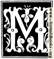 """Decorative initial letter """"M"""" from 16th Century"""