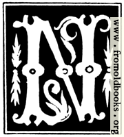 """Decorative initial letter """"N"""" from 16th Century"""