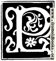 """Decorative initial letter """"P"""" from 16th Century"""