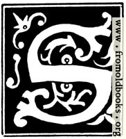 """Decorative initial letter """"S"""" from 16th Century"""