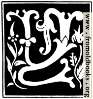 """Decorative initial letter """"Y"""" from 16th Century"""