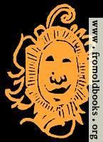 Happy bashful fiery sun face drawing