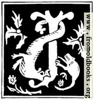"""Decorative initial letter """"J"""" from 16th Century"""