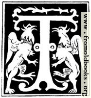 """Decorative initial letter """"T"""" from 16th Century"""