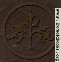 53.19.—Decorative stylised tree (embossed leather version)