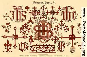 53.—Mongrams, Crosses, etc. [overview]