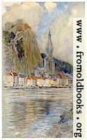 Frontispiece: Dinant, Showing Old Castle and Cathedral