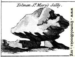Tolmen St. Mary's Scilly.  From the Druidical Antiquities Plate.