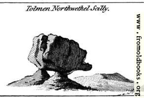 Tolmen Northwethel Scilly.  From the Druidical Antiquities Plate.