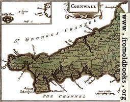 The map of Cornwall