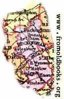Overview map of Buckinghamshire, England
