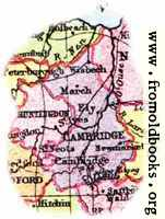 Overview map of Cambridgeshire, England