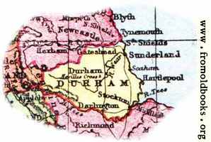 Overview map of Durham, England