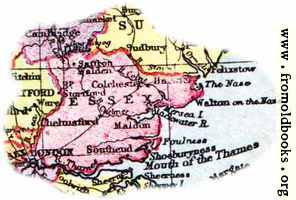 Overview map of Essex, England