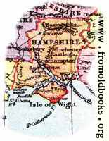 Overview map of Hampshire, England