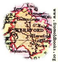 Overview map of Hereford, England