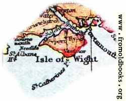 Overview map of Isle Of Wight, England