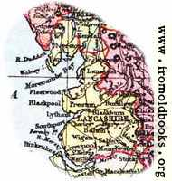 Overview map of Lancashire, England