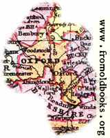 Overview map of Oxfordshire, England