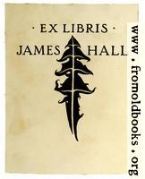 Bookplate of James Hall