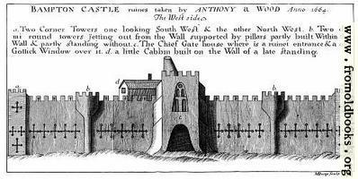 Bampton Castle, West Side.