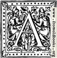 "Initial Capital Letter ""A"" With Scholars"