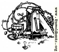 Decorative element: overgrown well bucket