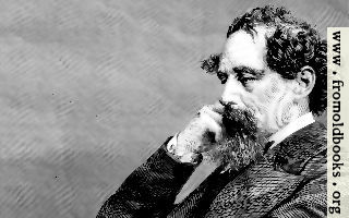 A closer crop of a portrait of Sir Charles Dickens