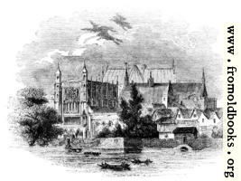 Houses of Parliament from the River, temp Charles II.