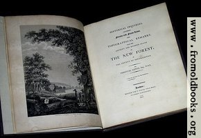 Title page and Frontispiece (Laws of the New Forest)