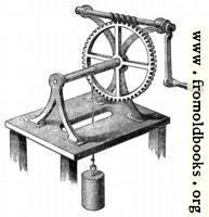 61.—Wheel and axle comined with a screw.