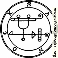 43. Seal of Sabnock.