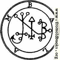 51. Seal of Balam, or Balaam.