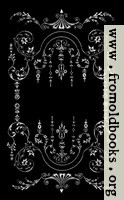 Victorian Border, Silver on Black.