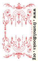Victorian Border, Red on White.