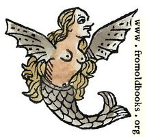 Winged Mermaid from p. 199 recto