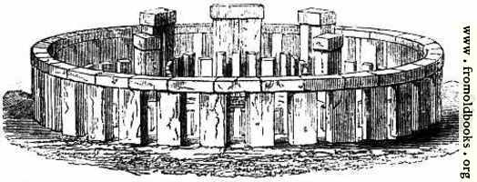3.—Stonehenge. – Perspective Elevation, restored.