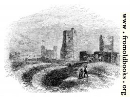 89. Roman Lighthouse, Church and Trenches in Dover Castle.