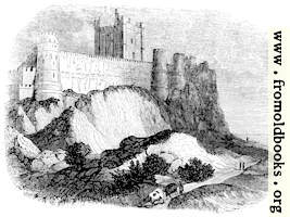 383.—Rock of Bamborough with Castle.