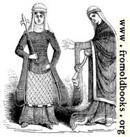 790.—Costume of Norman English Ladies in 12th Century.