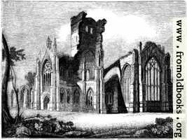 1057.—South east View of Melrose Abbey