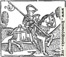 1373.—Wood-cut of a Knight.  (From Caxton's 'Game of the Chess')