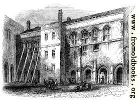 1675.—North side of the Priory Cloisters, Christ's Hospital.