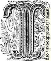 "Floriated initial capital letter ""T"""