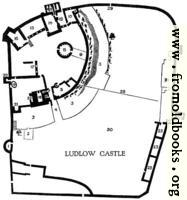 Plan of Ludlow Castle